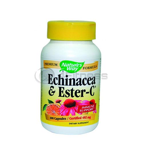 Echinacea & Vitamin C 492 mg. / Ехинацеа и витамин C 492 мг. – 100 Капс.