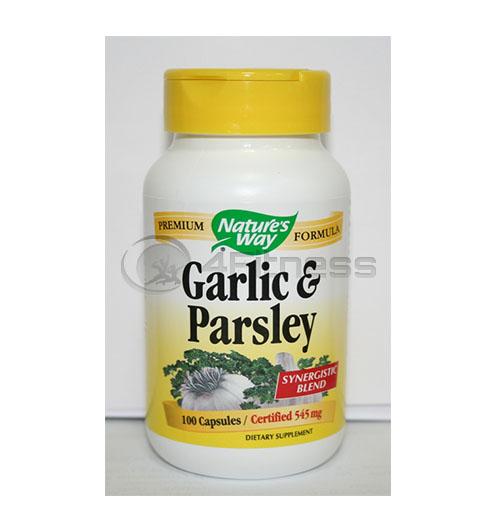 Garlic & Parsley 545 mg. / Чесън и магданоз 545 мг. – 100 Капс.