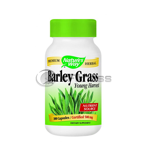 Barley Grass (young harvest) 500 mg. / Ечемик (трева) 500 мг. – 100 Капс.