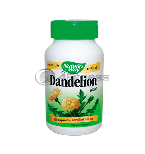 Dandelion Root 540 mg. / Глухарче (корен) 540 мг. – 100 Капс.