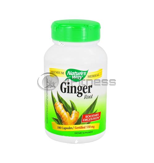 Ginger Root 550 mg. / Джинджифил (корен) 550 mg. – 100 Капс.