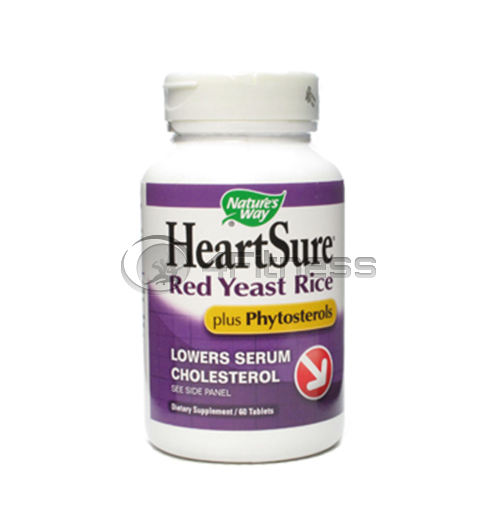 HeartSure Red Yeast Rice plus Phytosterols 1000 мг./ Здраво сърце плюс 1000 мг. – 60 caps.