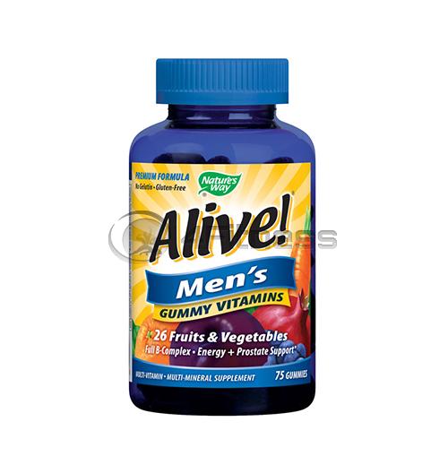 Alive Men's 100 mg. / Алайв – желирани мултивитамини за мъже 100 мг. – 75 Капс.