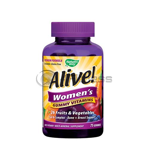 Alive Women's 131 mg./ Алайв желирани мултивитамини за жени 131 мг. – 75 Капс.