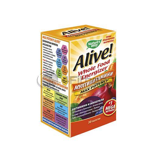 Alive 1g./ Алайв мултивитамини 1 г. – 30 Капс.