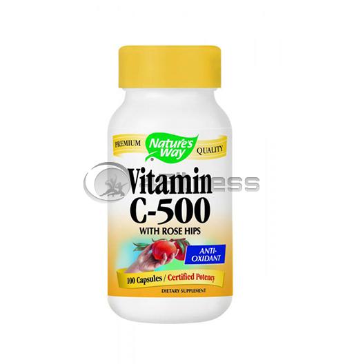 Vitamin C & Rose Hips 500 mg./ Витамин С и шипка 500 мг. – 100 Капс.