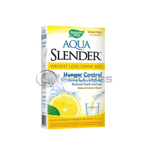 Aqua Slender Weight Loss Drink Mix Lemon Flavor/ Аква Слендър лимон 38мг. / 10 Пакетчета
