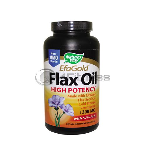 Flax Oil 57% ALA 1000 mg./ Ленено масло 57% АЛК 1000 мг. – 100 Капс.
