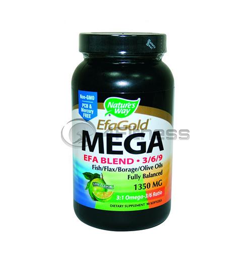 EFA Mega Omega 3,6 and 9 Blend 1350 mg./ ЕФА Мега Омега 3,6 и 9 1350 мг. – 90 Kaпс.