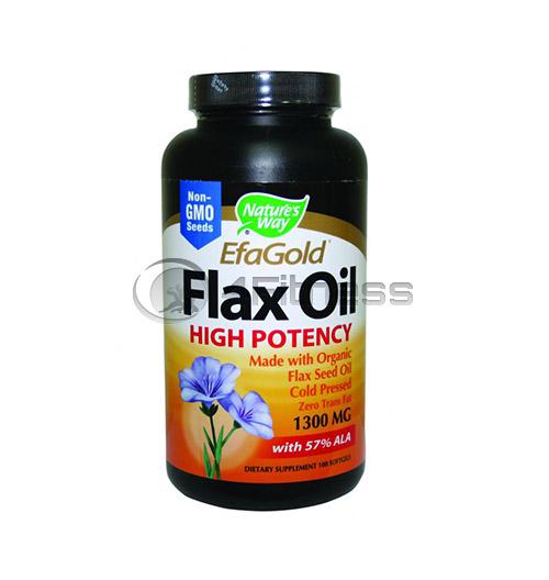 Flax Oil 57% ALA 1300 mg./ Ленено масло 57% АЛК 1300 мг. – 100 Капс.