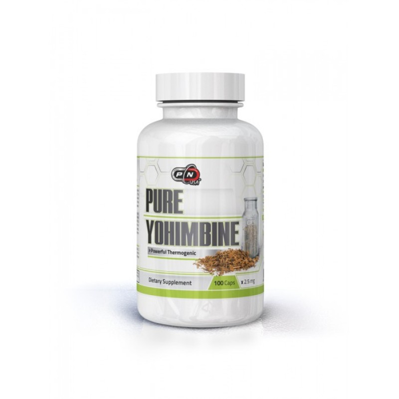100% Pure Yohimbine 2.5 mg. – 100 caps.