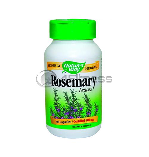 Rosemary Leaves 400 mg. / Розмарин лист 400 мг. – 100 Капс.