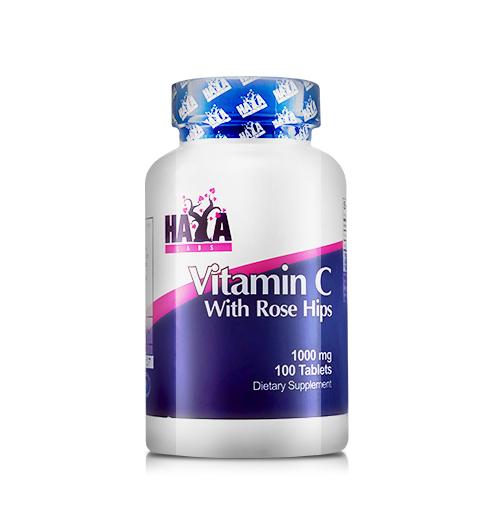 High Potency Vitamin C 1000мг. with Rose Hips – 100 В-Табл.