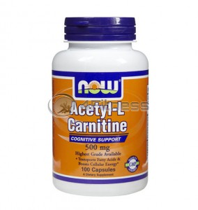 Acetyl L-Carnitine - 500mg. / 100 VCaps.