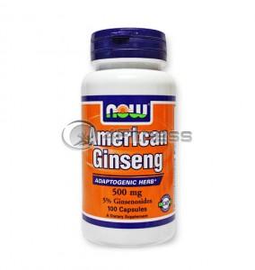 American Ginseng /5% Ginsenosides/ - 500 mg. / 100 Caps.