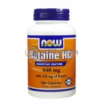 Betaine HCL – 648 mg. / 120 Caps.