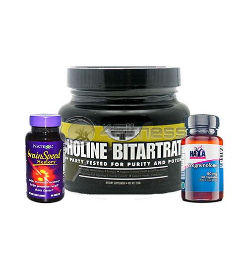 Brain Speed Memory / HAYA Pregnenolone / Primaforce Choline-Bitartrate