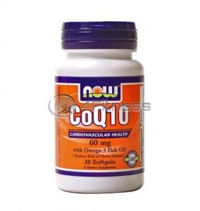 CoQ10 w/Omega 3 Fish Oils - 60 mg. / 30 Softgels
