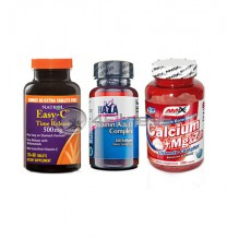 Easy-C Time Release / Vitamin A & D / Calcium Mg & Zn stack