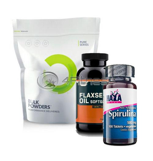 Hemp Protein / Spirulina / Flaxseed Oil stack