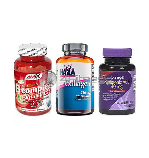 Hyaluronic Acid / Collagen / B-Complex + Vitamin C&E stack