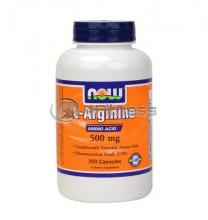 L-Arginine - 500 mg. / 250 Caps.