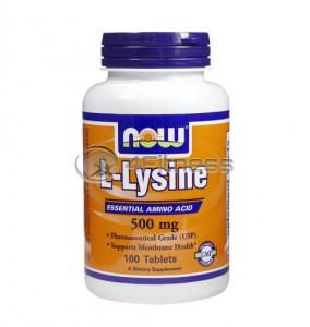 L-Lysine - 500 mg. / 100 Tabs.