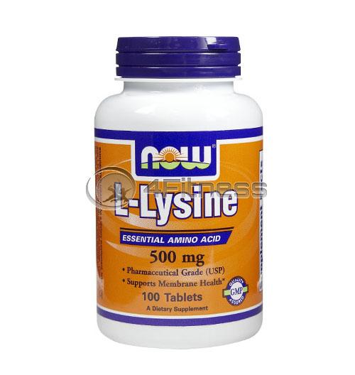L-Lysine – 500 mg. / 100 Tabs.