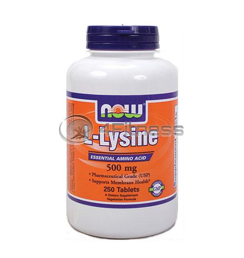 L-Lysine – 500 mg. / 250 Tabs.