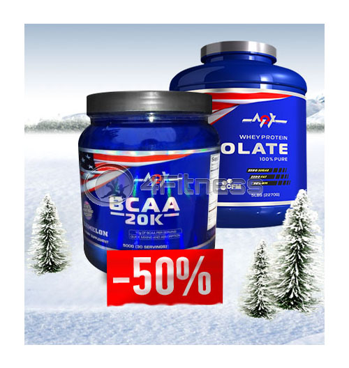 Whey Isolate + BCAA 20k – 500gr. stack