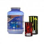 Whey Protein Isolate – 2270 gr. + ANIMAL PAK – 44 Paks + ANIMAL RAGE – 300 gr. Powder stack