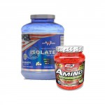 Whey Protein Isolate – 2270gr. + Amino HYDRO-32 – 550 Tabs. stack