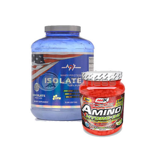 Whey Protein Isolate – 2270 gr. + Amino HYDRO-32 – 550 Tabs. stack