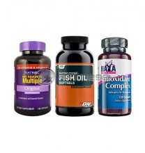 My Favourite Multiple / Fish Oil / Antioxidant Complex stack