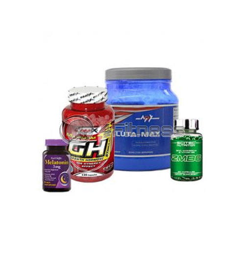 Melatonin – 3mg + ZMB6 + GH-Strimulant + Gluta-Max stack