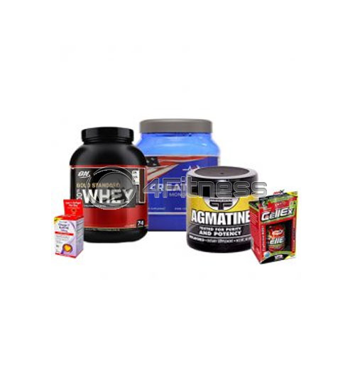Omega-3 Krill Oil / CellEx / Agmatine / 100% Whey Gold Standart / Creatine stack
