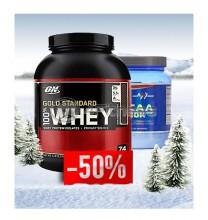 100% Whey Gold Standard - 2270 gr. + BCAA 20k - 500gr. stack