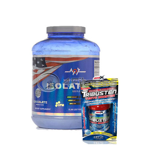 Whey Protein Isolate – 2270 gr. / Tribusten – 125 Caps. stack
