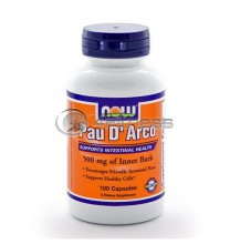 Pau D' Arco - 500 mg. / 100 Caps.