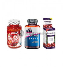 Resveratrol Diet / Omega 3-6-9 / Co-Q10 stack