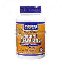 Natural Resveratrol /Mega Potency/ - 200 mg. / 120 VCaps.