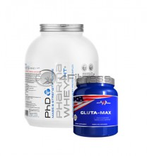 Whey HT - 2270 gr. / Gluta-Max stack