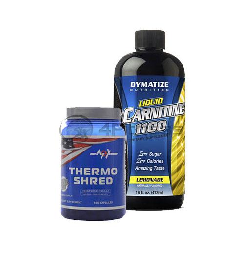 Thermo Shred – 180 Caps. + L-Carnitine Liquid – 473 ml. stack