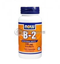 Vitamin B-2 /Riboflavin/ - 100 mg. / 100 Caps.