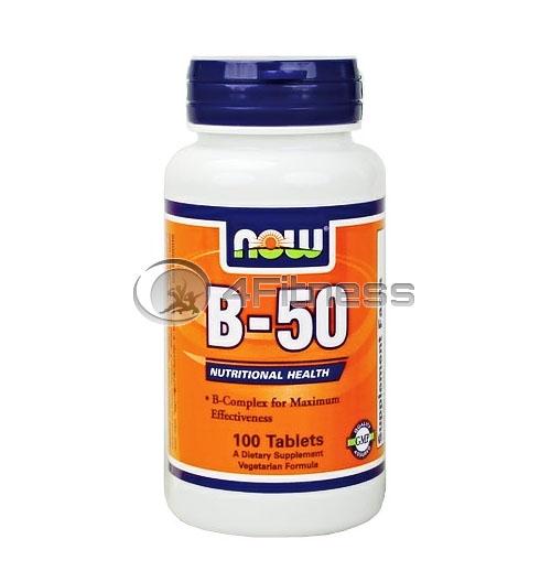Vitamin B-50 – 100 Caps.