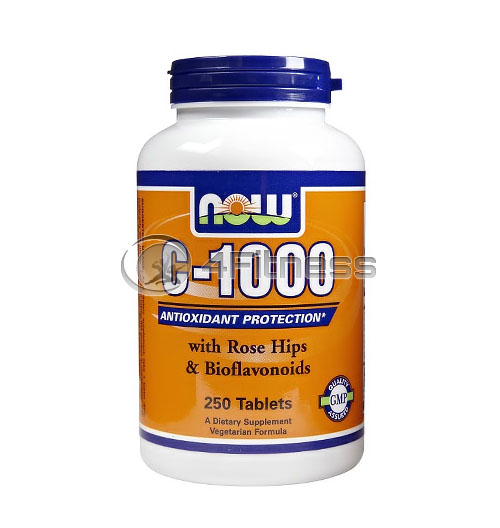 Vitamin C-1000 /Rose Hips/ – 250 Tabs.
