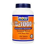 Vitamin C-1000 /Sustained Release with Rose Hips/ – 250 Tabs.