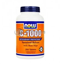 Vitamin C-1000 /Sustained Release with Rose Hips/ - 250 Tabs.