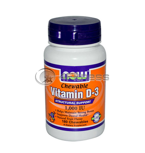 Vitamin D-3 / 1000 IU – 180 Chewables