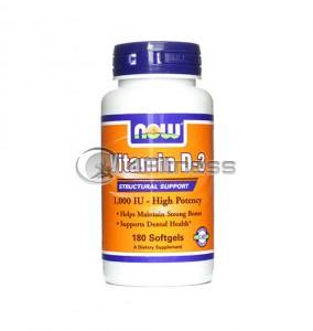 Vitamin D-3 /1000IU / - 180 Softgels